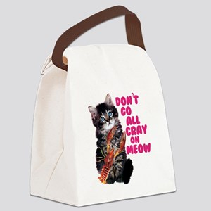 Cray on Meow Canvas Lunch Bag