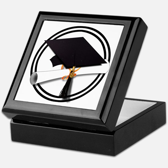 Graduation Cap with Diploma, Black an Keepsake Box