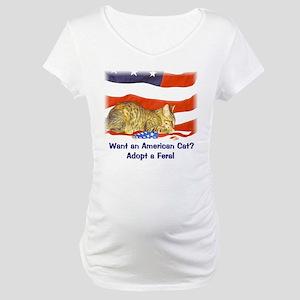 American Cat Maternity T-Shirt