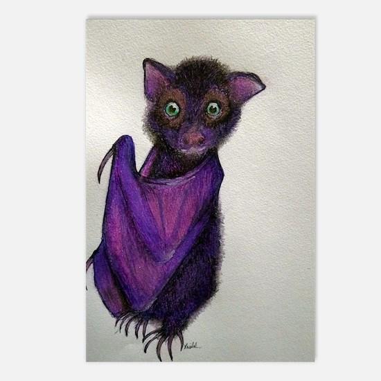 Cute Bat drawing Postcards (Package of 8)