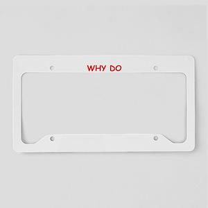 math joke License Plate Holder