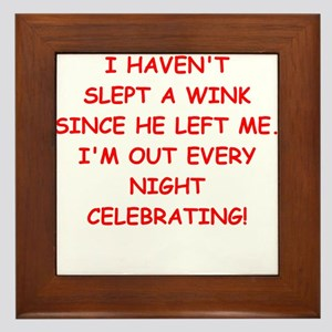 divorce Framed Tile