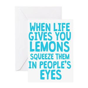 When life gives you lemons make lemonade greeting cards cafepress m4hsunfo