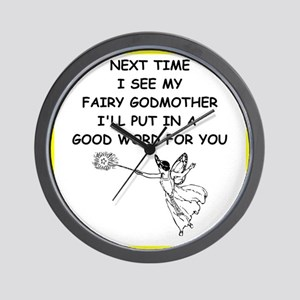 fairy godmother Wall Clock