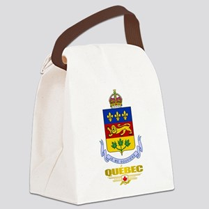 Quebec COA Canvas Lunch Bag