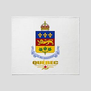 Quebec Coa Throw Blanket