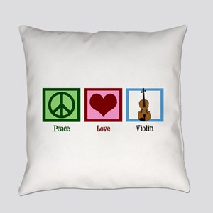Peace Love Violin Everyday Pillow