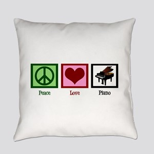 Peace Love Piano Everyday Pillow