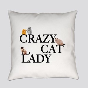 Crazy Cat Lady Everyday Pillow