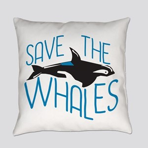 Save the Whales Everyday Pillow
