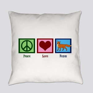 Peace Love Foxes Everyday Pillow