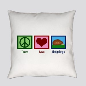 Peace Love Hedgehogs Everyday Pillow