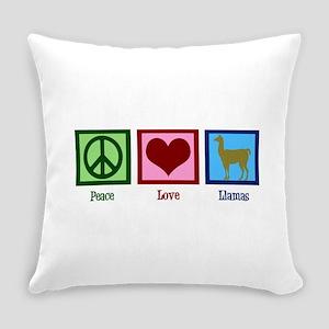 Peace Love Llamas Everyday Pillow