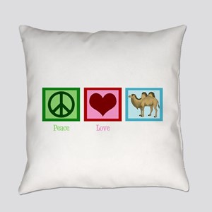 Peace Love Camels Everyday Pillow