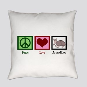 Peace Love Armadillos Everyday Pillow