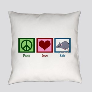 Peace Love Rats Everyday Pillow
