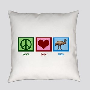 Peace Love Emu Everyday Pillow