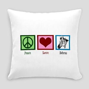 Peace Love Zebras Everyday Pillow