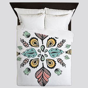 moroccan inked design Queen Duvet