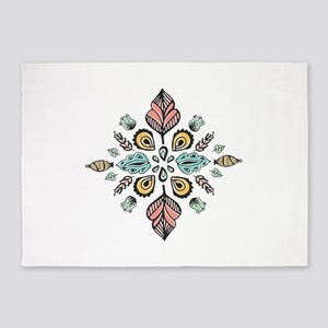 moroccan inked design 5'x7'Area Rug