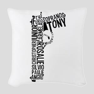 Sopranos Text Woven Throw Pillow
