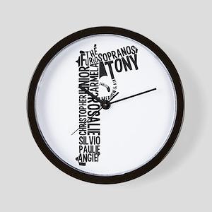 Sopranos Text Wall Clock