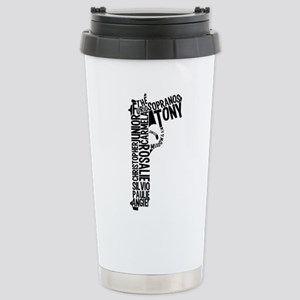 Sopranos Text Stainless Steel Travel Mug