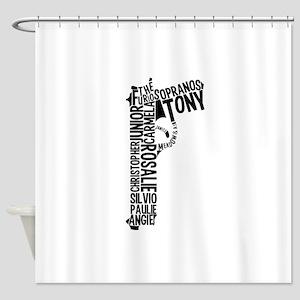 Sopranos Text Shower Curtain