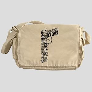 Sopranos Text Messenger Bag