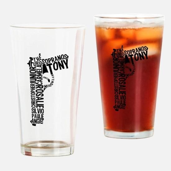Sopranos Text Drinking Glass