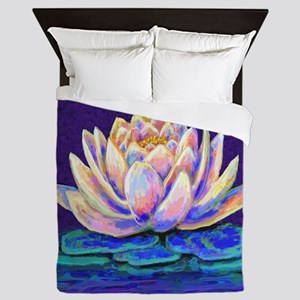 lotus blossum Queen Duvet