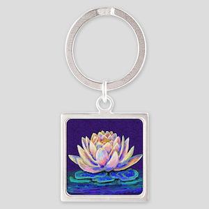 lotus blossum Square Keychain