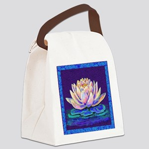 lotus blossum Canvas Lunch Bag