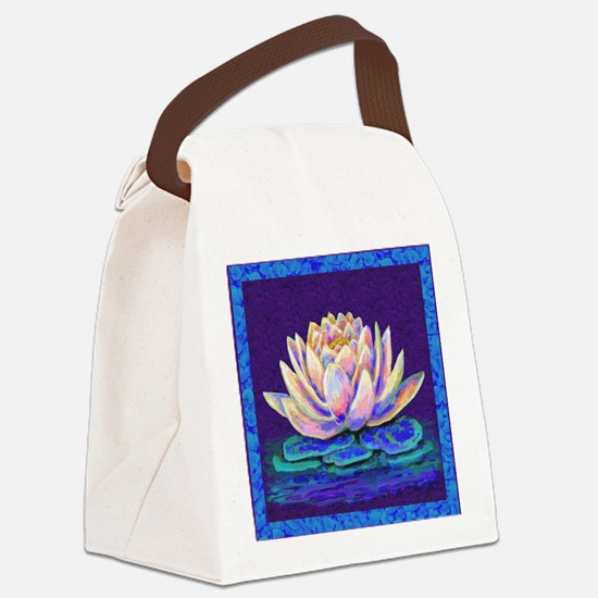 lotus blossum Canvas Lunch Bag