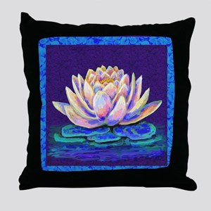 lotus blossum Throw Pillow