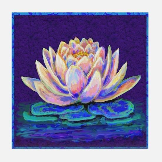 lotus blossum Tile Coaster