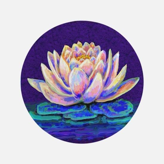 "lotus blossum 3.5"" Button"