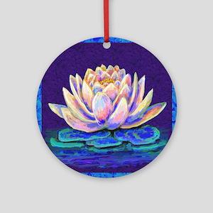 lotus blossum Round Ornament