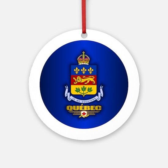 Quebec COA Ornament (Round)