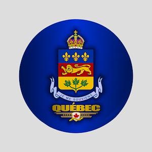 """Quebec COA 3.5"""" Button"""