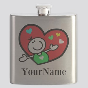 Happy Heart (p) Flask