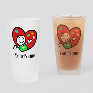Happy Heart (p) Drinking Glass