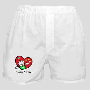 Happy Heart (p) Boxer Shorts