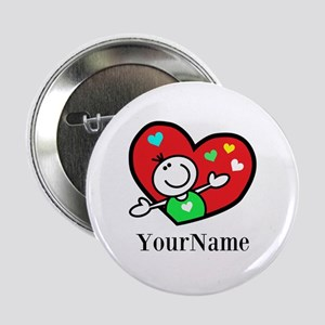 "Happy Heart (p) 2.25"" Button"