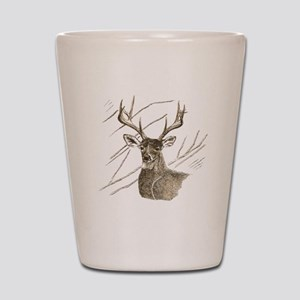 Brown Deer Shot Glass