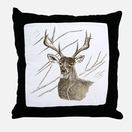 Brown Deer Throw Pillow