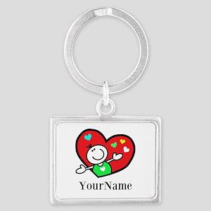 Happy Heart (p) Keychains