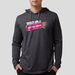 Custom Broken Arm Mens Hooded Shirt