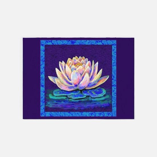 lotus blossum 5'x7'Area Rug