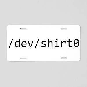 /dev/shirt0 Aluminum License Plate